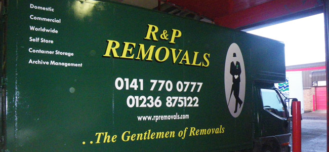 Removals in Glasgow| Storage Glasgow | Location of RP Removals
